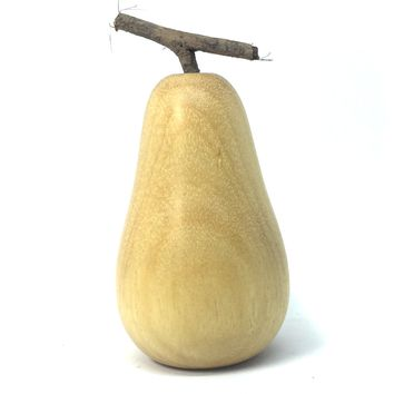 LV-4734  Hand Turned Pear Shaped Salt & Pepper Shaker, Secret Compartment from Yellowheart Wood