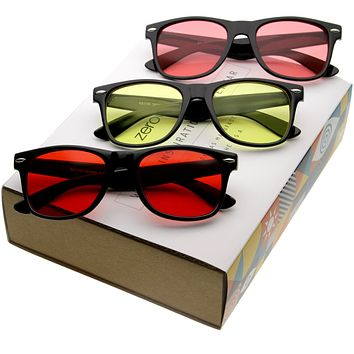 Limited Edition Retro Horn Rimmed Color Tone Sunglasses C046 [Promo Box]