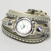 The Bali Stud Watch in Sage by La Mer