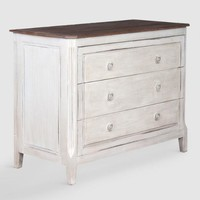 Small Gray Wood Issa Dresser