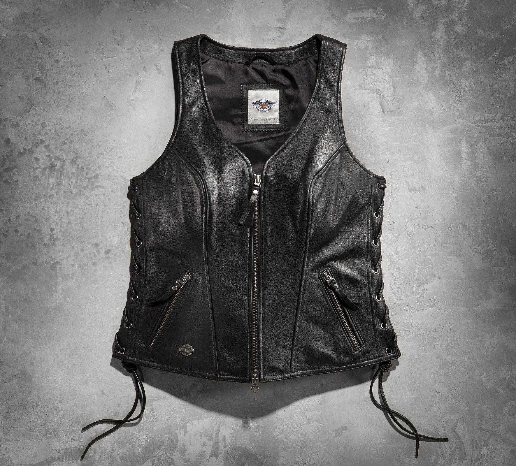 Women S Avenue Leather Vest Leather From Harley Davidson