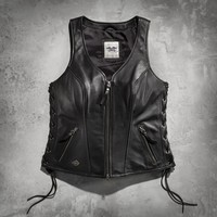 Women's Avenue Leather Vest | Leather | Official Harley-Davidson Online Store