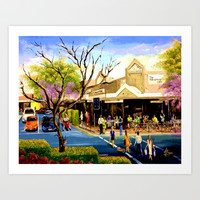 Sidewalk Cafe Art Print by Helen Syron