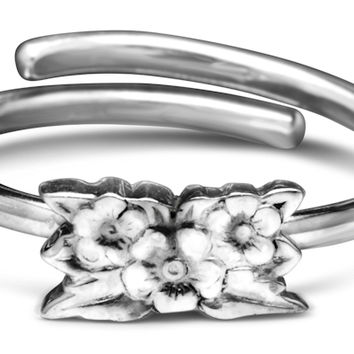Sterling Silver and Gold Vermeille Desiree Silver Spoon Ring