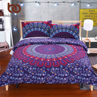 BeddingOutlet Love Stretches Bedding Bohemian Style Retro Duvet Cover and Pillowcase Twill Twin Full Queen King Cal-King Sale
