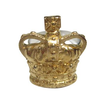 Gold Toned Royal Large Full Crown Adjustable Size Fashion Ring