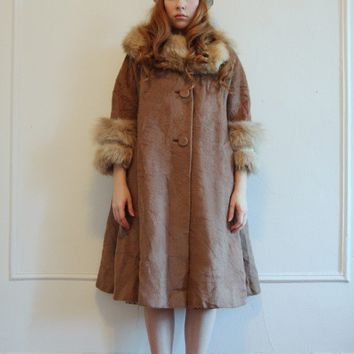 Gorgeous Lilli Ann Paris Wool Coat with Fur Trim by mylovedone