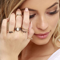 Under Your Charm Gold Ring Set