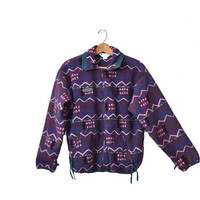 Vintage Columbia Jacket Columbia Fleece Jacket Southwestern Jacket 80s Columbia Jacket Purple Jacket