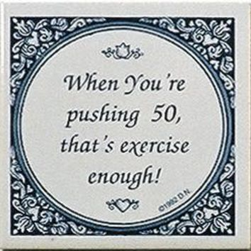 Dutch Magnet Tiles: Pushing 50 Is Exercise