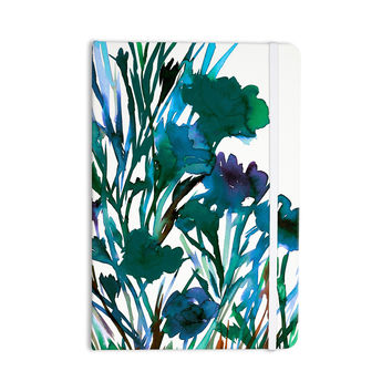 "Ebi Emporium ""Petal For Your Thoughts Teal"" Turquoise Green Everything Notebook"
