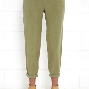 Black Swan Vedette Olive Green Pants