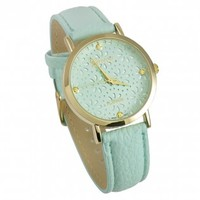 Mint Floral Face Watch [10091402] - $25.00 : HandPicked | Jewelry, Monogram, Embroidery & Gifts | Free shipping on orders over $75