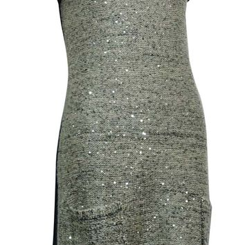 Style & Co. Women's Sequin Embellished Tunic Pocket Sweater
