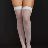 iCollection Lingerie Plus size Sheer Thigh High