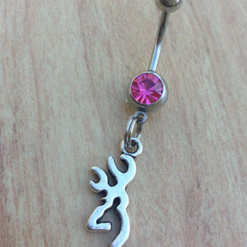 Buckmark Belly Ring Browning Hunter Country Belly Ring