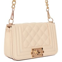 Quilted Purse - Beige from ROXX at ShopRoxx.com