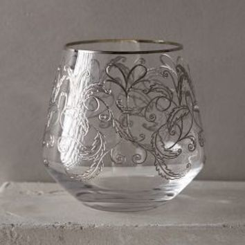 Etched Fern Old Fashioned by Anthropologie in Platinum Size: Old Fashioned Kitchen