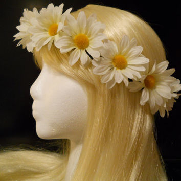 Flower Crown, Head Wreath, Headband, Daisy Chain, Festivals, ezoo, Festivals, Lollapalooza, Boho, Flower Girl, Hippie, Hair, Rave, Rage EDM