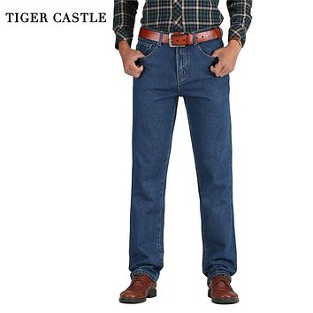 Mens Cotton Straight Classic Jeans Spring/Autumn Denim Pants Overalls