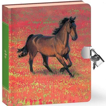Peaceable Kingdom / Wild Horse Lock & Key Diary
