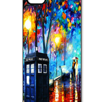 Painting Tardis Dr.Who iPhone 5/5s Case