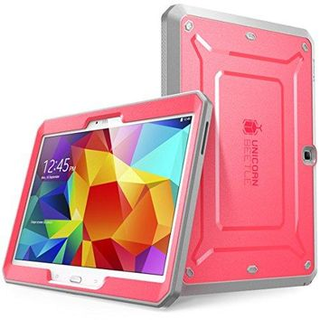 Samsung Galaxy Tab 4 10.1 Case, SUPCASE [Heavy Duty] Case for Galaxy Tab 4 10.1 Tablet [Unicorn Beetle PRO Series] Full-body Rugged Hybrid Protective Cover with Built-in Screen Protector (Pink/Gray)