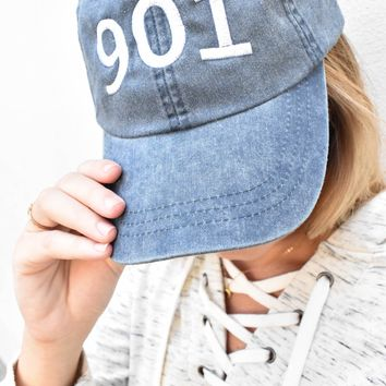 Custom Denim Area Code Hat