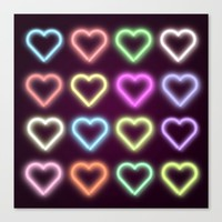 Neon Love Canvas Print by Dood_L