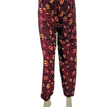 Womens Harem Gauchos Pants Palazzo Red Black Modern Printed Trousers: Amazon.ca: Clothing & Accessories