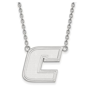 NCAA 10k White Gold U of Tennessee at Chattanooga Lg Pendant Necklace