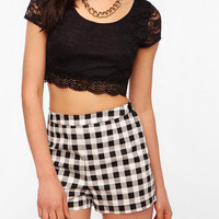 Pins And Needles Super Cropped Lace Tee