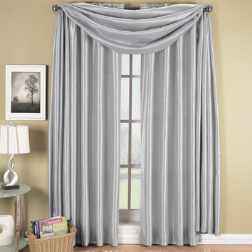 Silver Soho Scarf Window Treatment