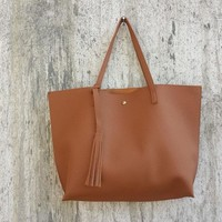 High quality Soft Leather Shoulder tote Bag