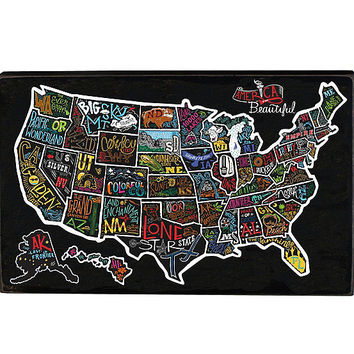 Primitives by Kathy USA Map Box Sign | Dillards