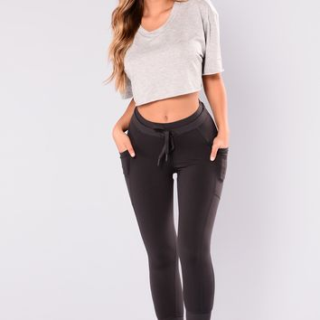 Yoga Pose Active Jogger - Charcoal