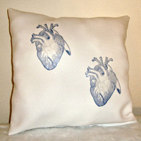 Doctor Who Two Hearts White Pillow