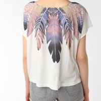 bird band of feather wings crop tee. $19.99