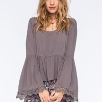 Others Follow We Are Young Womens Top Charcoal  In Sizes