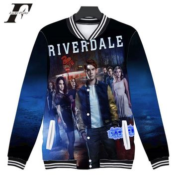 Trendy LUCKYFRIDAYF 2018 Riverdale 3D Print  south side serpents Women/Men Baseball Jacket bomber Sweatshirt  Jughead Jones Jacket coat AT_94_13