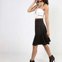 Scuba A-Line Skirt - Black - Small