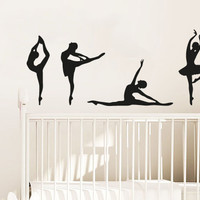 Wall Decal Vinyl Sticker Decals Art Decor Design Ballerinas Gymnastics Ballet Dancer Acrobatics Girl Sport Jump  Bedroom Living Room (r878)