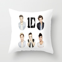 One Direction Throw Pillow by Jessica Rose