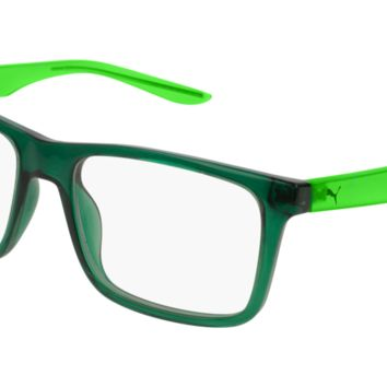 Puma - PJ0029O Green Eyeglasses / Demo Lenses