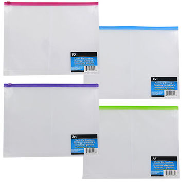 Bulk Jot Plastic Zip Envelopes at DollarTree.com