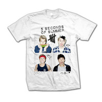 5SOS: Scribble Photo T-Shirt