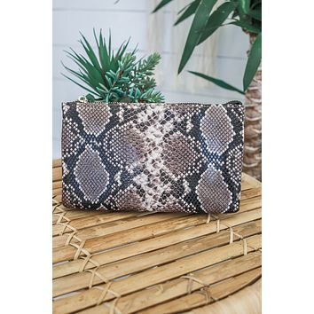 Sultry Sass Clutch - Snakeskin