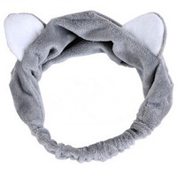 Plush Cat Ears Sweatband