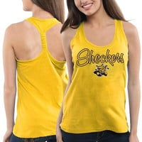 Wichita State Shockers Ladies Hugo Melange Tank - Gold