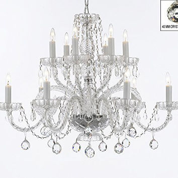 Murano Venetian Style All Empress Crystal (Tm) Chandelier With Crystal Balls - A46-B6/385/6+6